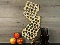Beer Cap Map: New Jersey