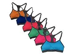 6Pk Bright Color Sports Bras
