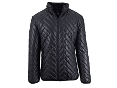 Men's Puffer Jacket With Quilted Design