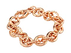18K Rose Gold Twisted Interlock Bracelet