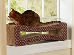 Cat's Meow Cardboard Cat Scratcher - Brown