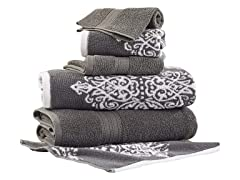 Yarn Dyed Jacquard Towel Set (6-Piece)