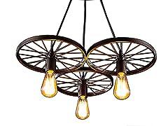 "Serapiko 3-light 20"" Edison Chandelier with Light Bulb"