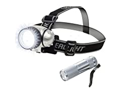 12 LED Headlamp and 6 LED Flashlight Set