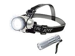 12 LED Headlamp and 6 LED Flashlight Set