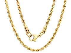 18kt Gold Plated Rope Chain