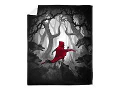 """Running Red"" Mink Blanket"