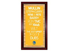 "Golden State Warriors 16"" x 32"" Sign"