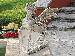 Grand Pegasus Winged Horse Statue