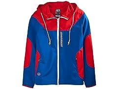 Warrior Men's Softshell Jacket- Blue/Red