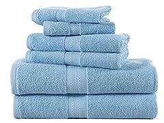 6-Pc 100% Combed Cotton 600GSM Towel Set