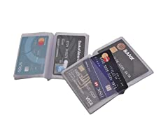 Plastic Wallet Insert Credit Card Holder