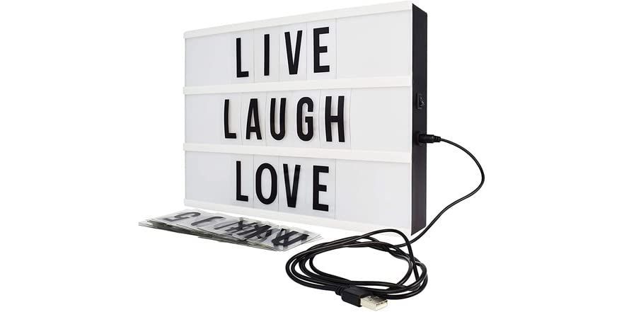 Northpoint LED Box With 109 Letters, White | WOOT