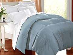 Down Alternative Comforter Blue-3 Sizes