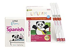 Little Pim Spanish Vol 1- 3 Pack DVD Set and Flashcards