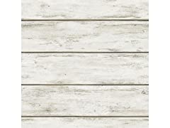 White Washed Plank Peel & Stick Wallpaper