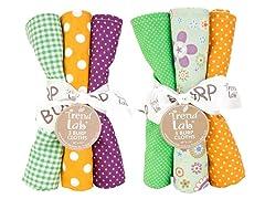 6-Piece Burp Cloth Set- Jelly Bean