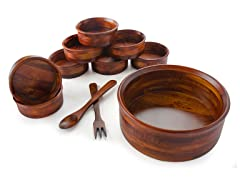 "13"" Salad Bowl, 8 Bowls & Servers"