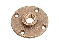 """Anderson Metals Brass Floor Flange, 1/2"""""""