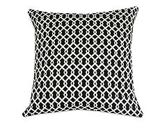 Ellis Panther Black 17x17 Pillow