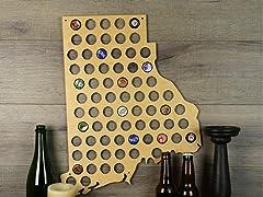 Beer Cap Map: Rhode Island