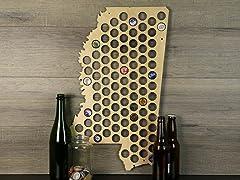 Beer Cap Map: Mississippi