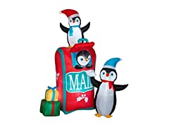 Gemmy Penguins and Mailbox Inflatable