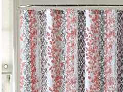 Amadora Embossed Shower Curtain - 4 Colors