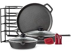 Cuisinel Cast Iron Cookware 6-Pc Set