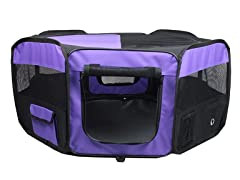 Portable Pet Play Pen - Purple
