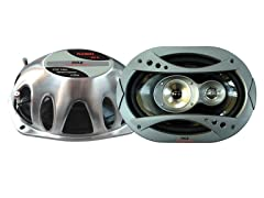 6'' x 9'' 360 Watt 3-Way Speaker System (Pair)