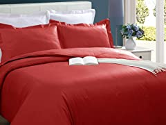 Microfiber Duvet Cover Set-Brick-2 Sizes