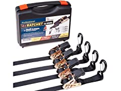 15-Foot Ratchet Tie Downs (4-Pack)