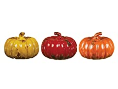 "8.5"" Large Pumpkin Set of 3"