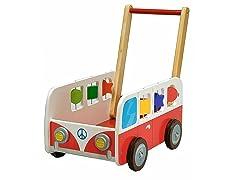Dushi Wooden Motor Bus Push Car