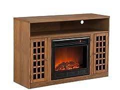 Fairfax Media Oak Electric Fireplace