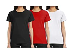 3pk Women Loose-Fit s/s Crew Neck Tee