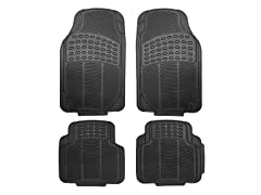 Oxgord Heavy Duty All-Weather Rubber Floor Mat, Black