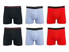 Men's Comfort Tech Boxer Briefs 6-Pack
