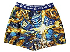 Dr. Who Van Gogh Exploding TARDIS Boxer