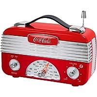Deals on Coca-Cola CCR01 Retro Desktop Vintage Style AM/FM Radio