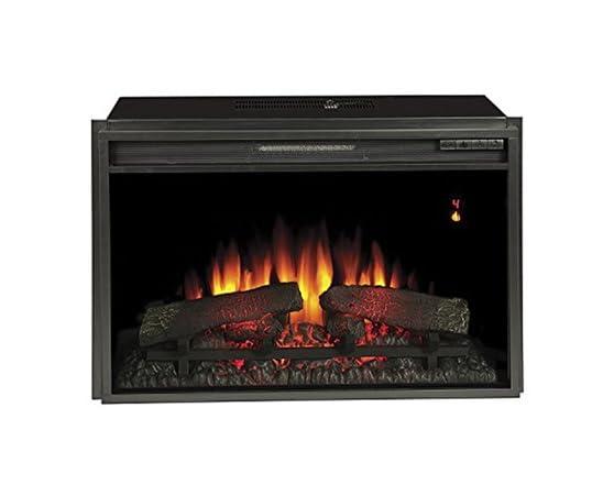 Media Mantel w Electric Fireplace Insert