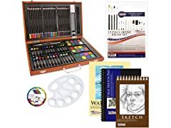 US Art Supply 82 Piece Deluxe Art Set