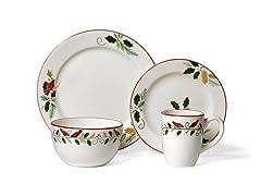 16pc Dinnerware Set - Cardinal & Holly