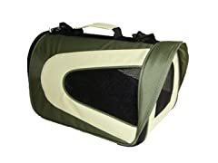 Airline Approved Pet Carrier - Green & Khaki