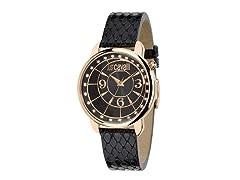 Just Cavalli Women's Trendy Black Leather Watch