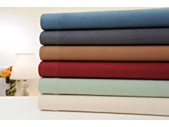 Bibb Home Solid Flannel Sheet Set
