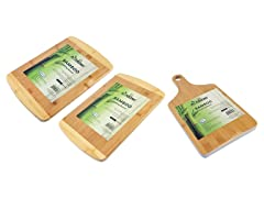 Bamboo Cutting Boards- 3-Piece, Two Tone
