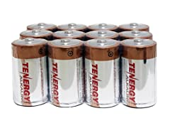 Tenergy 1.5V D Alkaline LR20 Battery - 12 Pack