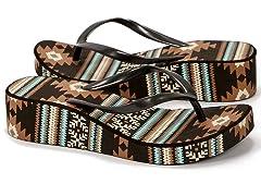 MUK LUKS® Women's Flip Flop Sandals, Brn